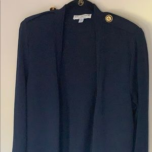 St.John open front blue cardigan. Sz:Small
